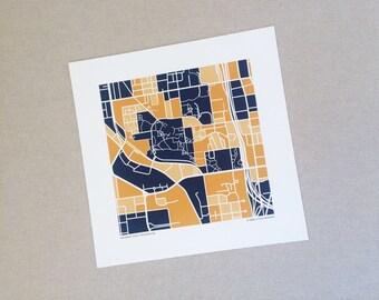 Georgia Tech Map Print