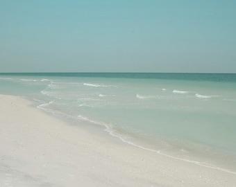 Relaxing Beach Photography West coast Florida aquamarine blue green Wall decor 8x10 print