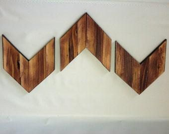Wooden Chevron Arrows Rustic Cabin Decor (Set of 3)