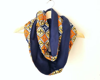 Print Lined Infinity Scarf