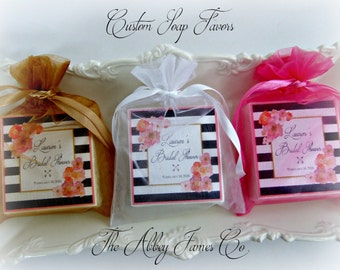 Shower Favors, Bridal Shower, Baby Shower, Birthday Party Favors, Soap Favors, set of 10