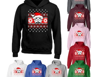 STAR WARS Inspired ugly Christmas Sweater, Xmas Sweater, Christmas party, Holiday gift , Force awakens, Rouge one, STORMTROOPER Santa