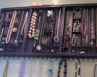Plum Purple Printers Drawer Jewelry Display