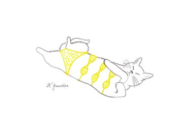 Yellow  Polka-Dot Quadrakini