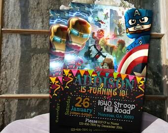 Avengers Invitation / Avengers Birthday / Avengers Party / Avengers Birthday Invitation / Avengers Party Invitation / Avengers / Superhero