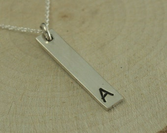 Sterling Silver Initial Pendant~Customized Pendant~Children's Initial~Group Pendant~Letter Pendant~Family Pendant~Choose Your Letter~Bar