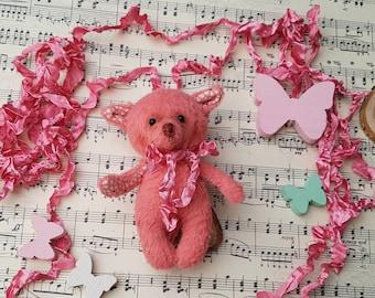 Stuffed animal , softie toy, plushie, blythe bjd doll pet. Miniature toy fox. Mother's Day Gift.