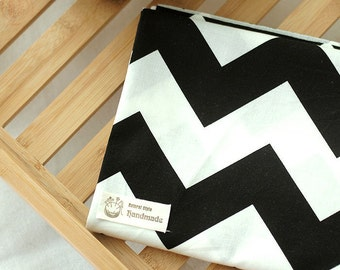 Black and White Patterns Cotton Fabric - Chevron - By the Yard Northern Europe Style Modern Pattern 39413