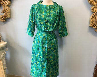 1950's Gigi Young dress and jacket floral silk