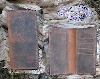 Buffalo leather Roper Wallet, Checkbook Wallet