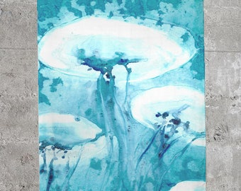Jellyfish Scarf - Watercolor Painting - Accessory Clothing