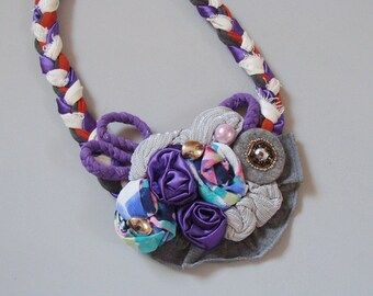 Fabric Necklace Artistry I