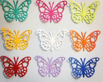 9 Pippi Butterfly Die Cut Embellishments Scrapbooking Card Making Paper Crafts Fully Assembled Summer Brights