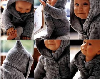 Baby cardigan Duffle, baby sweater, small jewel sweater jacket/cardigan/Duffle Jacket