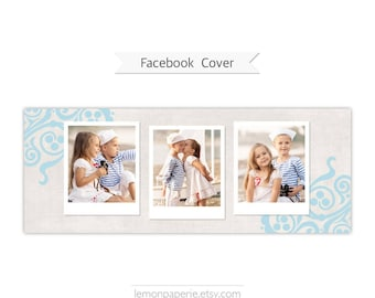 Facebook Timeline Cover, Photoshop Template - FT205 - INSTANT DOWNLOAD