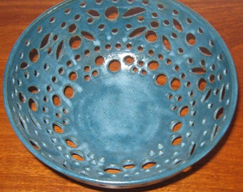 Pottery Bowl SOPHIA Eyecatching  - See shop for more Christmas Gifts of Hand Carved Pottery