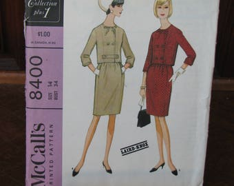 Vintage Uncut McCall's 8400, New York Designers Collection, Laird-Knox Designer, 1966 Sewing Pattern