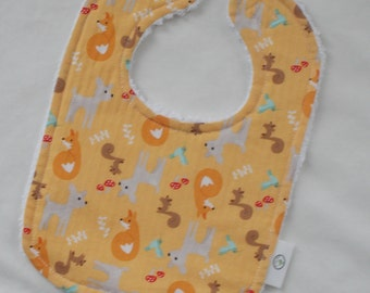 Orange Good Natured Chenille Bib