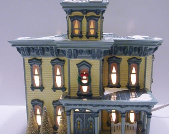 Dept 56 Snow Village Italianate Villa American Architecture Series