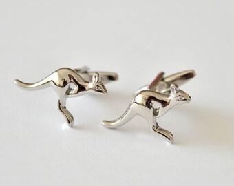 Silver Kangaroo Cufflinks/ Animals Cuff Links /Silver Cufflinks/ Kangaroo/ Cufflinks for men/ Mens Gift /Men's Cuff Links & Accessories/Gift
