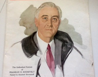 Vintage Collectible Liberty Magazine-FDR-- Janunary 11, 1947.