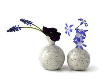 Flower Vase Set, White Ceramic Vases, Black White Vase, Mini Vases, Small Flower Vase, White Gift, Wedding Decoration, Table Decor, Bud Vase