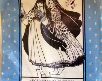 Folkwear Vintage Pattern #107 - Afghani Nomad Dress - Sewing Pattern