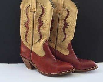 Vintage Red Frye Boots