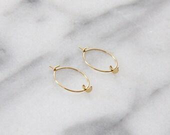 Moon Hoop Earrings - M3502
