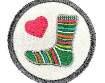 Sock Love Craftbadge craft merit badge