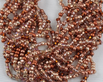 6/0 Copper Mega Mix Czech Seed Beads - loose, 70grams