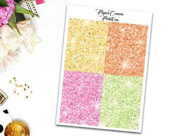 HELLO SUMMER Glitter Headers/Planner Stickers for Erin Condren Planner/Happy Planner/Personal Planner/Travelers Notebook/Functional Headers