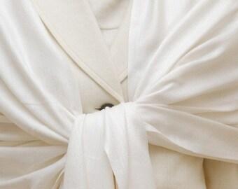 White pashmina scarf, bridesmaids gifts, weddings, bridal accessories, bridal shawl wrap