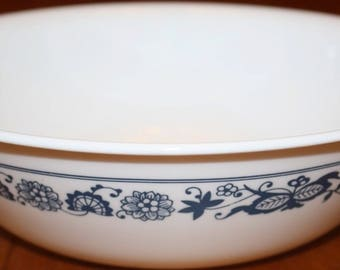 Corning Old Town Blue Round Vegetable Bowl