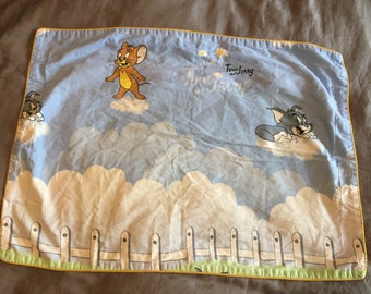 Vintage tom and jerry pillow case