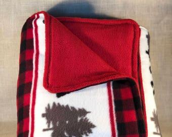 Forest Bear Fleece Blanket