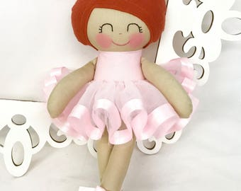 Ballerina Handmade Doll - Heirloom doll - Nursery Decor- Girl birthday gift