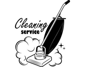 Cleaning Logo #8 Maid Service Housekeeper Housekeeping Clean Vacuum Floors .SVG .EPS .PNG Digital Clipart Vector Cricut Cutting Download