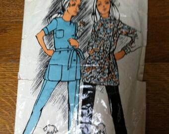 Pajama pattern vintage short or long sleeves