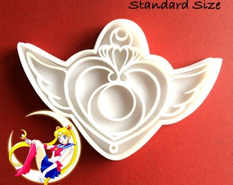 Sailor moon crisis moon compact cookie cutter LARGE transformation brooch 3D Biscuit Mold Fondant Mold Sailor Moon 20th AnniversarY