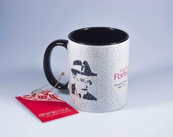 Fernando Pessoa Mug, Original Art, Fernando Pessoa Writer, Portugal Illustration, Portuguese Graphic Design