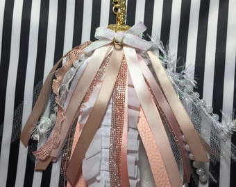 Planner Tassel tassels Rose Gold Unicorn shabby Blush pink glam planner tassels ornaments journal charm bible charm kikki k Eclp Filo Happy