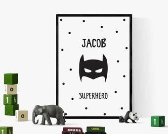 Superhero Print, Superhero Poster, Nursery Decor, Superhero Wall Art, Superhero Decor, Wall Decor, Home Decor, Nursery Wall Art, Kids Room