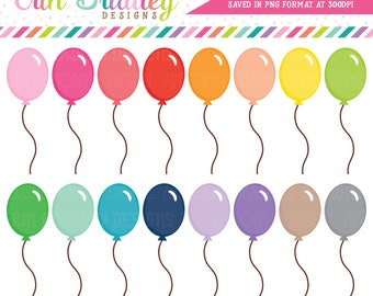 Balloon Clipart Birthday Party Clip Art Graphics Celebration Clipart Commercial Use OK