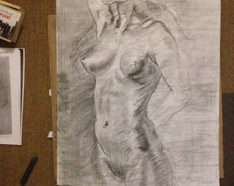 Charcoal Drawing Prints