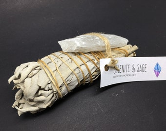 Smudge Kit California White Sage & Selenite - WSSEL01