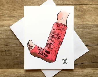 Funny Greeting Card, Funny Sympathy Card, Get well Soon card, Funny Get Well Card, Sympathy Card