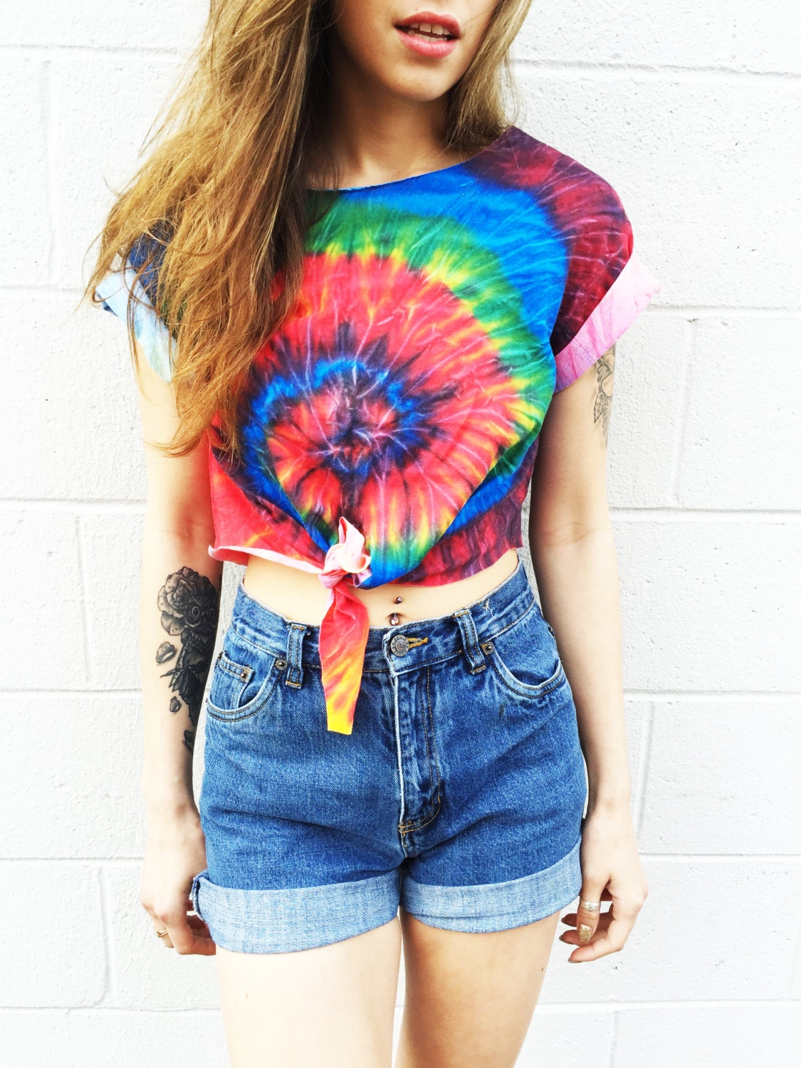 Tie dye crop top women 39 s clothing tiedye tshirt top music for Nike tie dye shirt and shorts