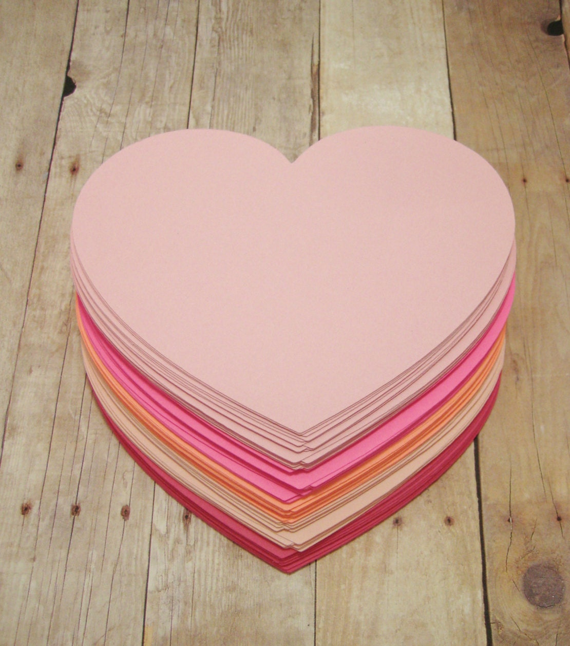 4 inch Paper Hearts-Cardstock Hearts-Bridal Shower