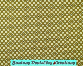 Moda fabric - Brown - stylized flower pattern